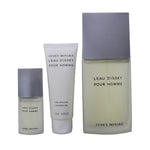 LE111M - Issey Miyake L'Eau De Issey 3 Pc. Gift Set for Men | EDT 0.5 oz + EDT 4.2 oz + S/G 2.5 oz