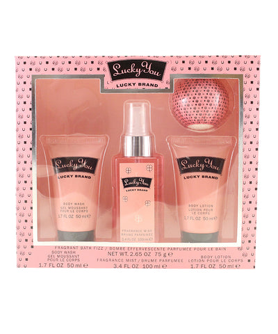 LU449 - Lucky Brand Lucky You 4 Pc. Gift Set for Women - Default Title