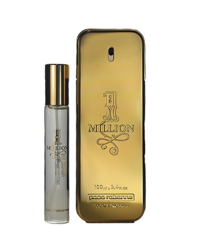 MILL73M - Paco Rabanne 1 Million 2 Pc. Gift Set for Men - EDT 0.68 oz + EDT 3.4 oz