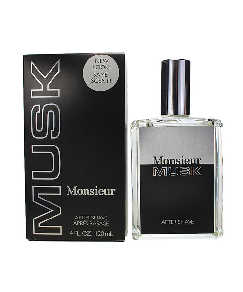 MO85M - Dana Monsieur Musk Aftershave for Men - 4 oz / 120 ml Liquid