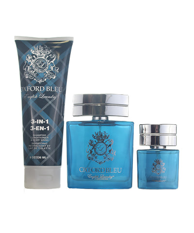 OX37M - English Laundry Oxford Bleu 3 Pc. Gift Set for Men