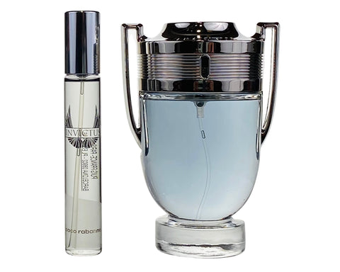 PRI48M - Paco Rabanne Invictus 2 Pc. Gift Set for Men - EDT 0.68 oz + EDT 3.4 oz