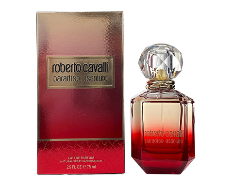 RCPA25 - Roberto Cavalli Paradiso Assoluto Eau De Parfum for Women - 2.5 oz / 75 ml - Spray