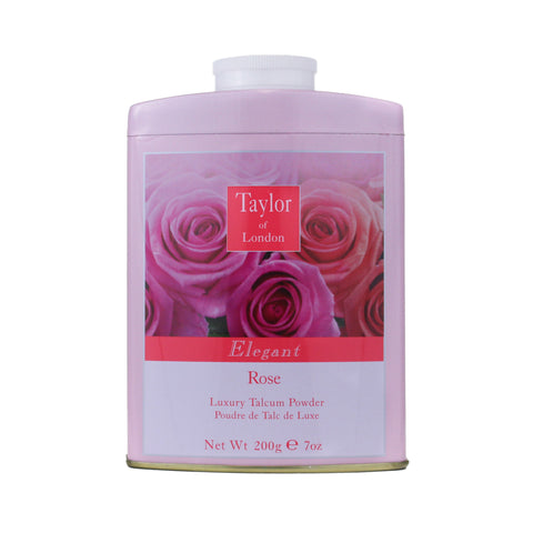TOR12 - Taylor Of London Rose Talcum Powder for Women - 7 oz / 200 g
