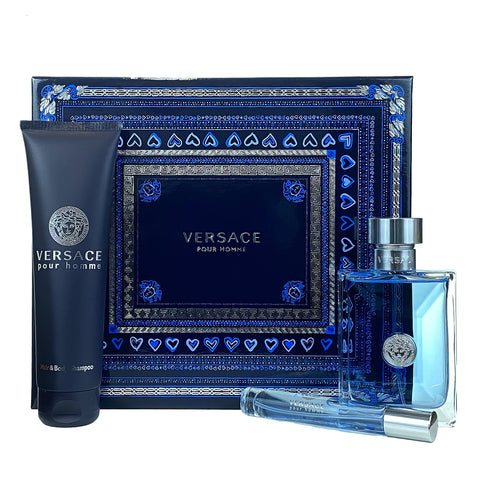 VPH324M - Gianni Versace Versace Pour Homme 3 Pc. Gift Set for Men