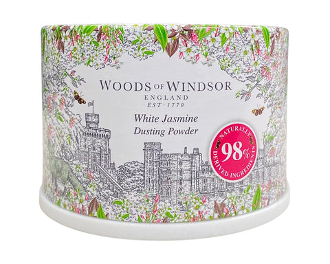 WHI18-P - White Jasmine Dusting Powder for Women - 3.5 oz / 100 ml - With Puff