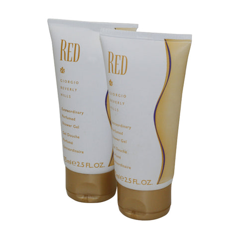 RE250 - Giorgio Beverly Hills Red Body Lotion for Women 2 Pack - 2.5 oz / 75 ml - Pack
