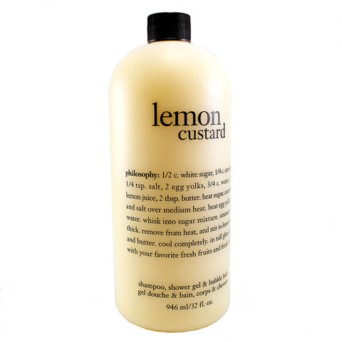 LC12 - Lemon Custard 3-in-1 Shower Gel for Women - 32 oz / 946 g