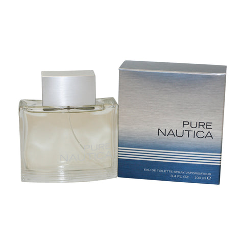 NAP34M - Nautica Pure Eau De Toilette for Men - Spray - 3.4 oz / 100 ml