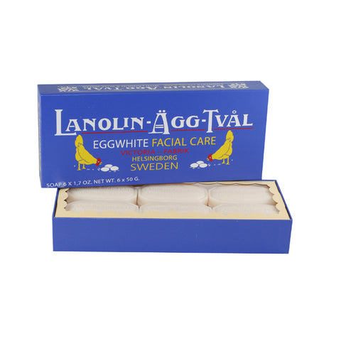 LAT10 - Lanolin Agg Tval Soap for Women - 6 Pack - 1.7 oz / 50 g