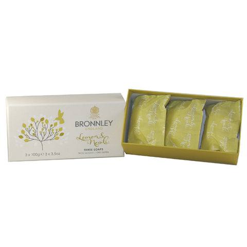 BRO10 - Lemon & Neroli Soap for Women - 3 Pack - 3.5 oz / 100 g