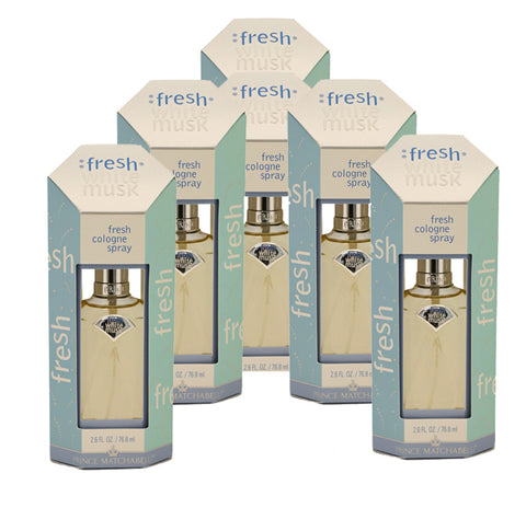 FRE31 - Fresh White Musk Cologne for Women - 6 Pack - Spray - 2.6 oz / 76.8 ml - Pack