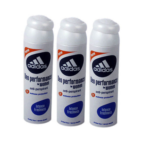 ADD41 - Adidas Intense Freshness Anti-Perspirant for Women - 3 Pack - Spray - 5 oz / 150 ml - Alcohol Free