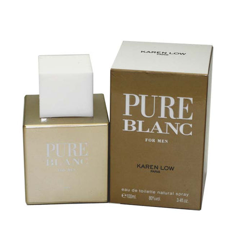 PB34M - Pure Blanc Eau De Toilette for Men - Spray - 3.4 oz / 100 ml