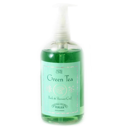 PG70W - Perlier Nature'S One Green Tea Bath & Shower Gel for Women - 16.8 oz / 500 g