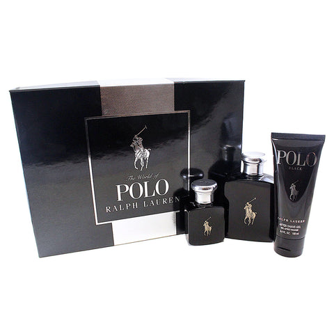 POB24M - Polo Black 3 Pc. Gift Set for Men