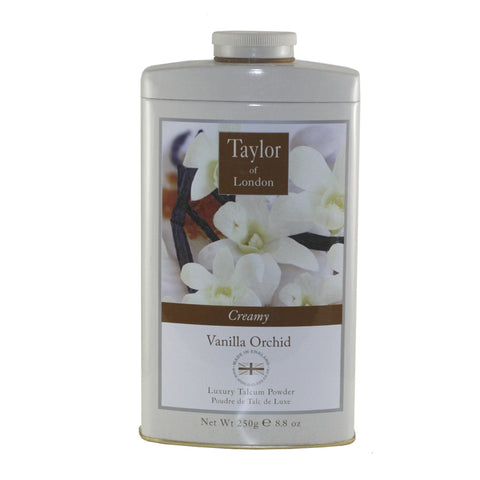 TOVO12 - Taylor Of London Vanilla Orchid Talcum Powder for Women - 8.8 oz / 250 g