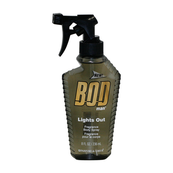 BODL8M - Bod Man Lights Out Fragrance Body Spray for Men - 8 oz / 236 ml