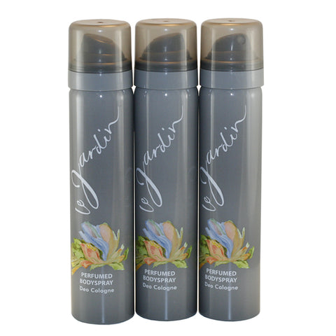 LE257 - Le Jardin Body Spray for Women - 3 Pack - 2.5 oz / 75 ml