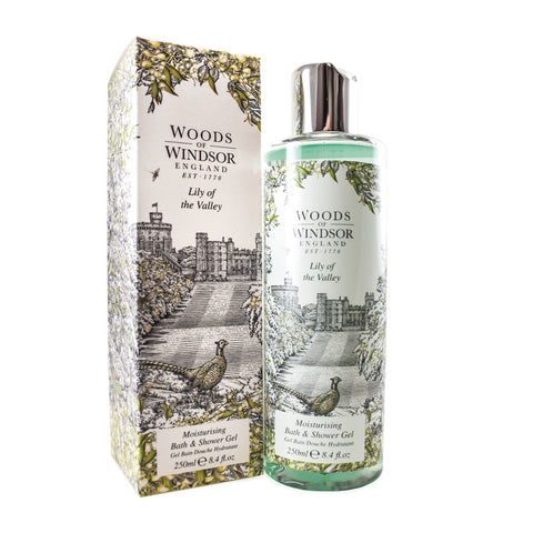 LIL21 - Woods of Windsor Lily Of The Valley. Bath & Shower Gel for Women 8.4 oz / 250 g