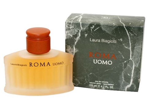 RO30M - Roma Uomo Eau De Toilette for Men - 4.2 oz / 125 ml Spray