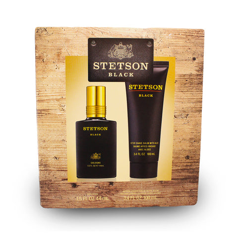 STB16M - Stetson Black 2 Pc. Gift Set For Men