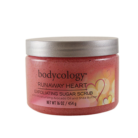 BRH17 - Bodycology Runaway Heart Exfoliating Sugar Scrub for Women | 16 oz / 473 ml