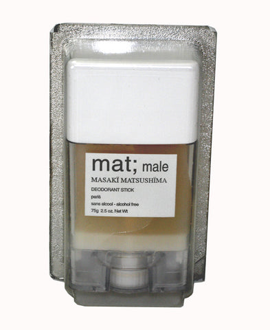 MAT3M - Mat Male Deodorant for Men - Stick - 2.5 oz / 75 g - Alcohol Free