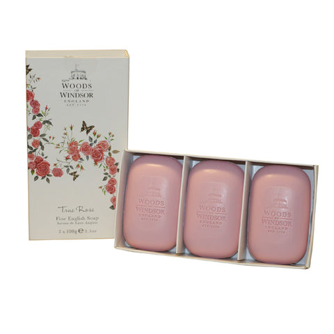 TRUR3 - True Rose Soap for Women - 3 Pack - 3.34 oz / 100 g