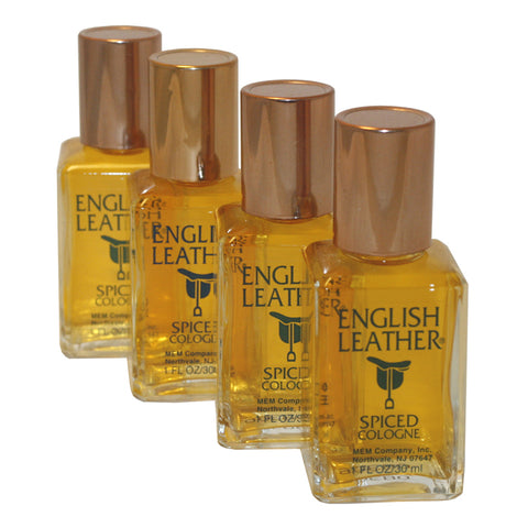 EN66M - English Leather Spiced Cologne for Men - 4 Pack - Splash - 1 oz / 30 ml - Pack