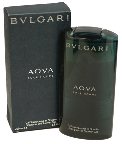 BV15M - Bvlgari Aqva Pour Homme Shampoo & Shower Gel for Men - 6.8 oz / 200 ml