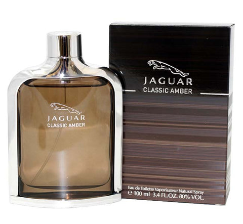 JCA34M - Jaguar Classic Amber Eau De Toilette for Men - 3.4 oz / 100 ml Spray