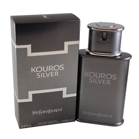 KOS33M - Kouros Silver Eau De Toilette for Men - 3.3 oz / 100 ml Spray