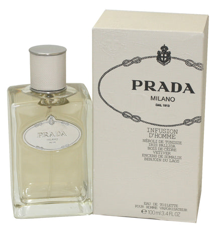 PRAD19M - Prada Infusion D'Homme Eau De Toilette for Men - Spray - 3.3 oz / 100 ml