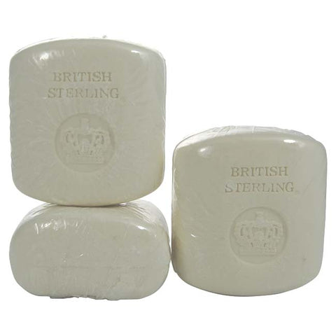 BR222M - British Sterling Soap for Men - 3 Pack - 3 oz / 90 ml - Pack