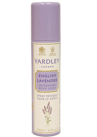 YAR19 - Yardley English Lavender Refreshing Body Spray for Women - 3.4 oz / 100 ml