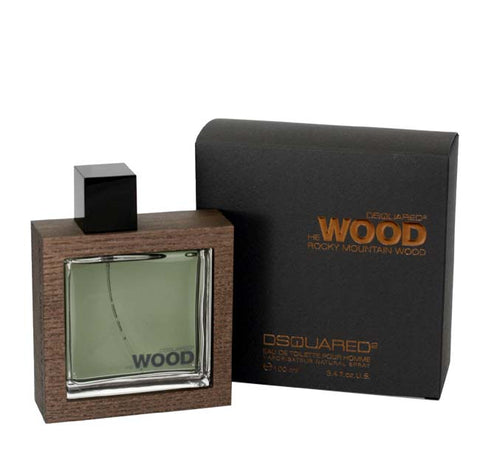 DESW33M - Dsquared2 He Wood Rocky Mountain Wood Eau De Toilette for Men - 3.4 oz / 100 ml Spray
