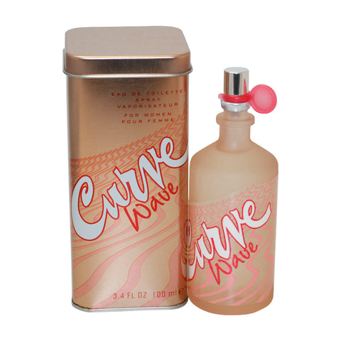 CUR60 - Curve Wave Eau De Toilette for Women - 3.4 oz / 100 ml Spray