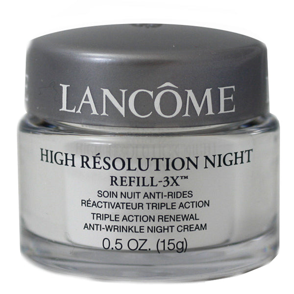 LANC86 - Lancome High Resolution 3 x Triple Action Renewal Anti-wrinkle Night Cream for Women | 0.5 oz / 15 ml - Unboxed