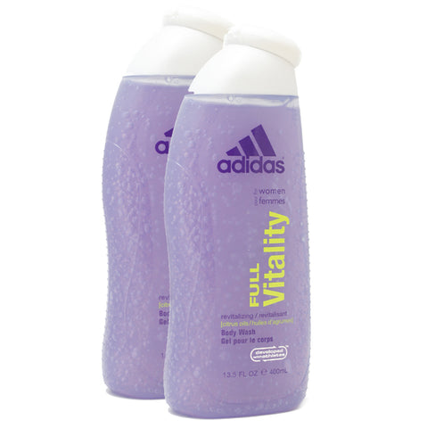 ADFV13 - Adidas Full Vitality Body Wash for Women - 2 Pack - 13.5 oz / 400 ml - Pack