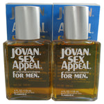 JO733M - Coty Jovan Sex Appeal Aftershave/Cologne for Men | 2 Pack - 4 oz / 120 ml