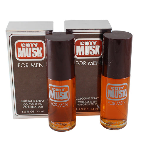 MUS1M - Musk Cologne for Men - 2 Pack - Spray - 1.5 oz / 44 ml - Pack