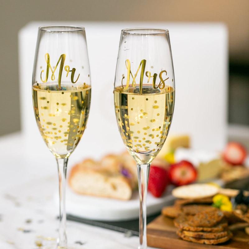 Mr & Mrs Champagne Set