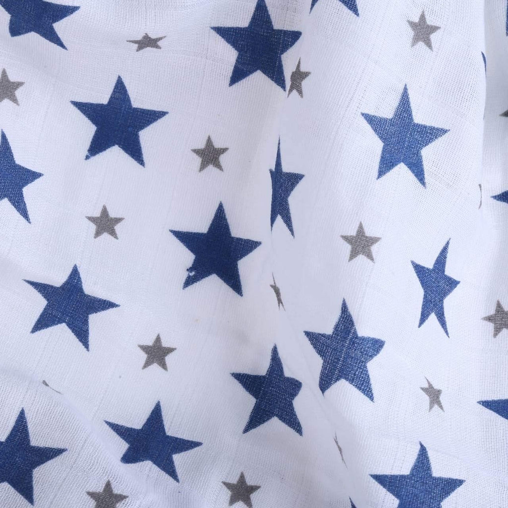 STAR NAVY 100% Cotton Muslin - haus & kinder
