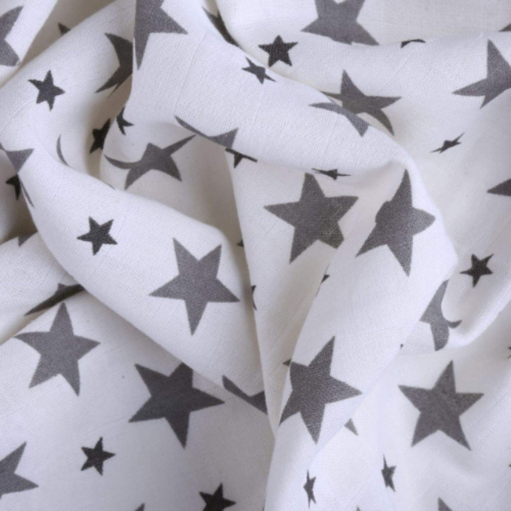Chevron Stripes 100% Cotton Muslin Swaddle Pack of 4 (Anchor, Dots, Star Grey, Yellow) - haus & kinder