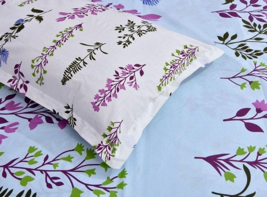 Dream Floral Romance 100% Cotton 144 TC, Magic Blue