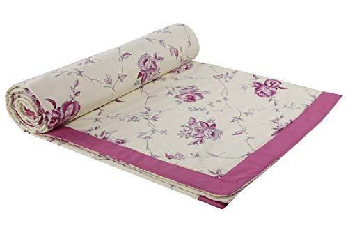 haus & kinder Premium Satin Double Dohar Gift Set, 100% Cotton, 1 Doube Dohar with 2 Pillow Covers and 2 Cushion Covers - haus & kinder