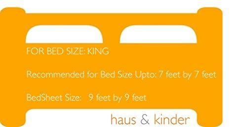 haus & kinder Super Silky Soft Satin Stripes King Size, 100% Cotton Double Bedsheet with 2 Pillow Covers, 300 Thread Count, King Size - haus & kinder