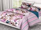 Leaves Tropical Bloom, 100% Cotton, 186 TC, Pink