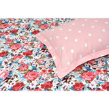 Tropical Floral Bloom 100% Cotton Double Bedsheet with 2 Pillow Covers 144 TC - haus & kinder